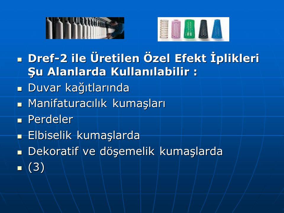 Dref-2 ile Üretilen Özel Efekt İplikleri Şu Alanlarda Kullanılabilir : Dref-2 ile Üretilen Özel Efekt İplikleri Şu Alanlarda Kullanılabilir : Duvar ka