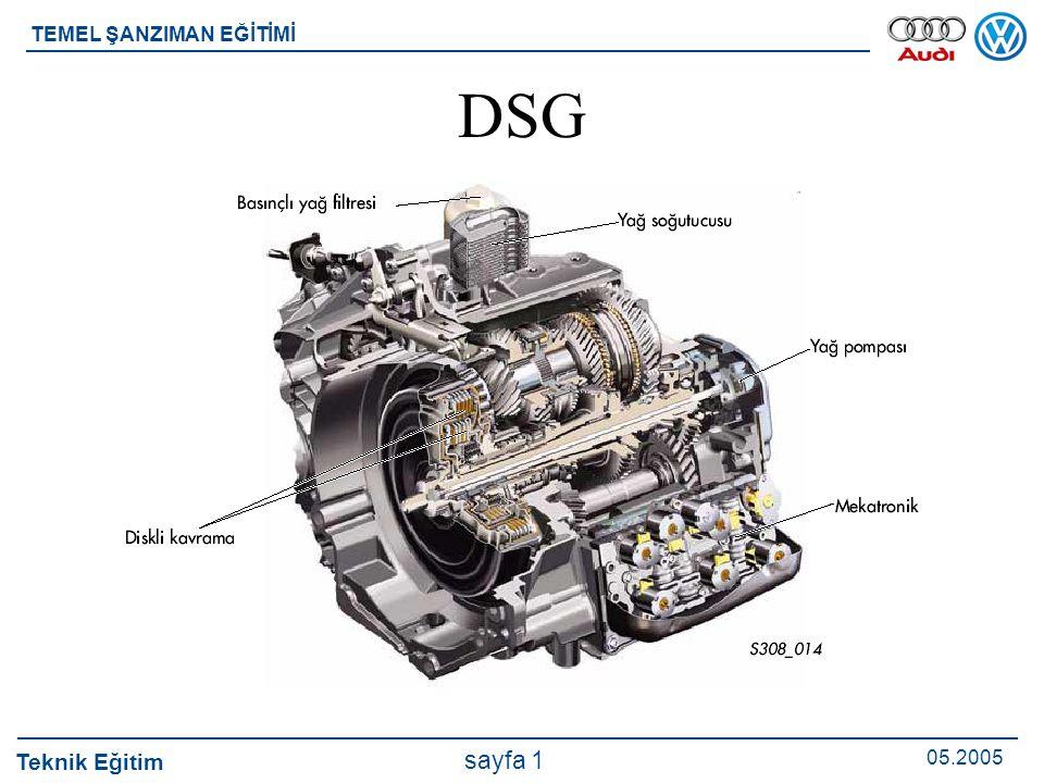 Teknik Eğitim 05.2005 sayfa 2 TEMEL ŞANZIMAN EĞİTİMİ Elektromekanik şanzımana özgü nitelikler Mekatronik, elektronik ve elektrohidrolik kontrol ünite tek bir ünite oluşturur ve şanzımanda yer alır.