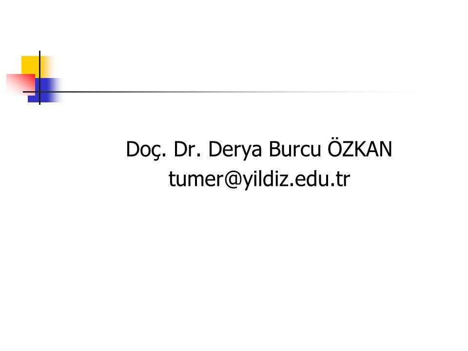 Doç. Dr. Derya Burcu ÖZKAN tumer@yildiz.edu.tr