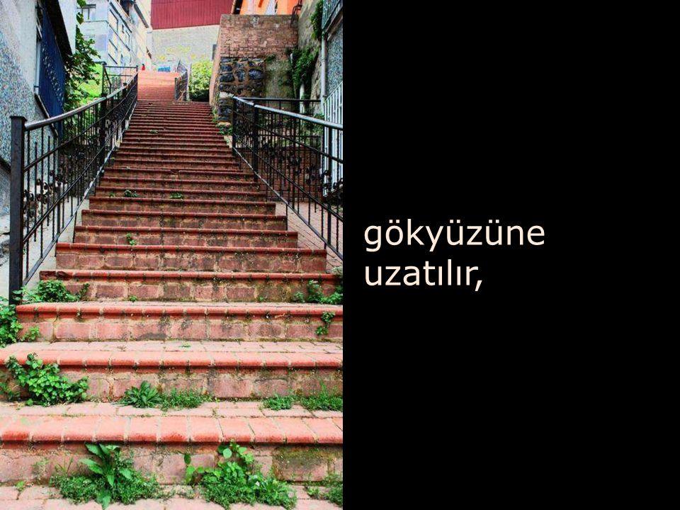 şiirlerde şarkılarda hayata benzetilir merdivenler,