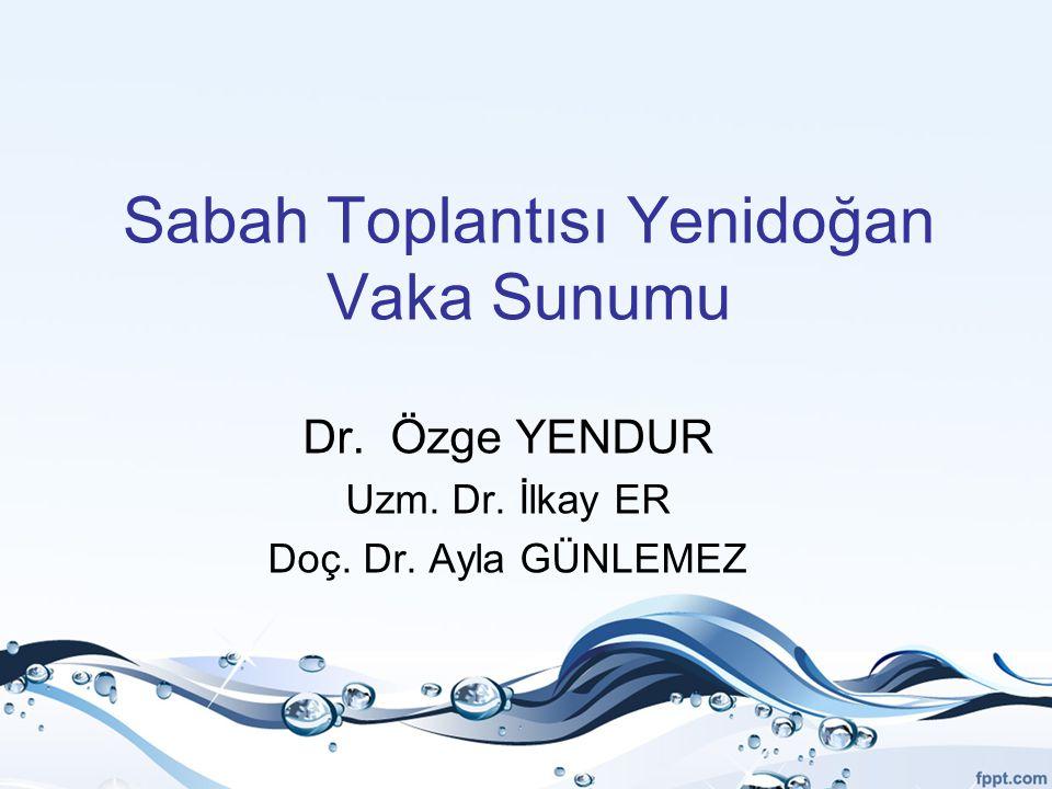 Sabah Toplantısı Yenidoğan Vaka Sunumu Dr. Özge YENDUR Uzm. Dr. İlkay ER Doç. Dr. Ayla GÜNLEMEZ