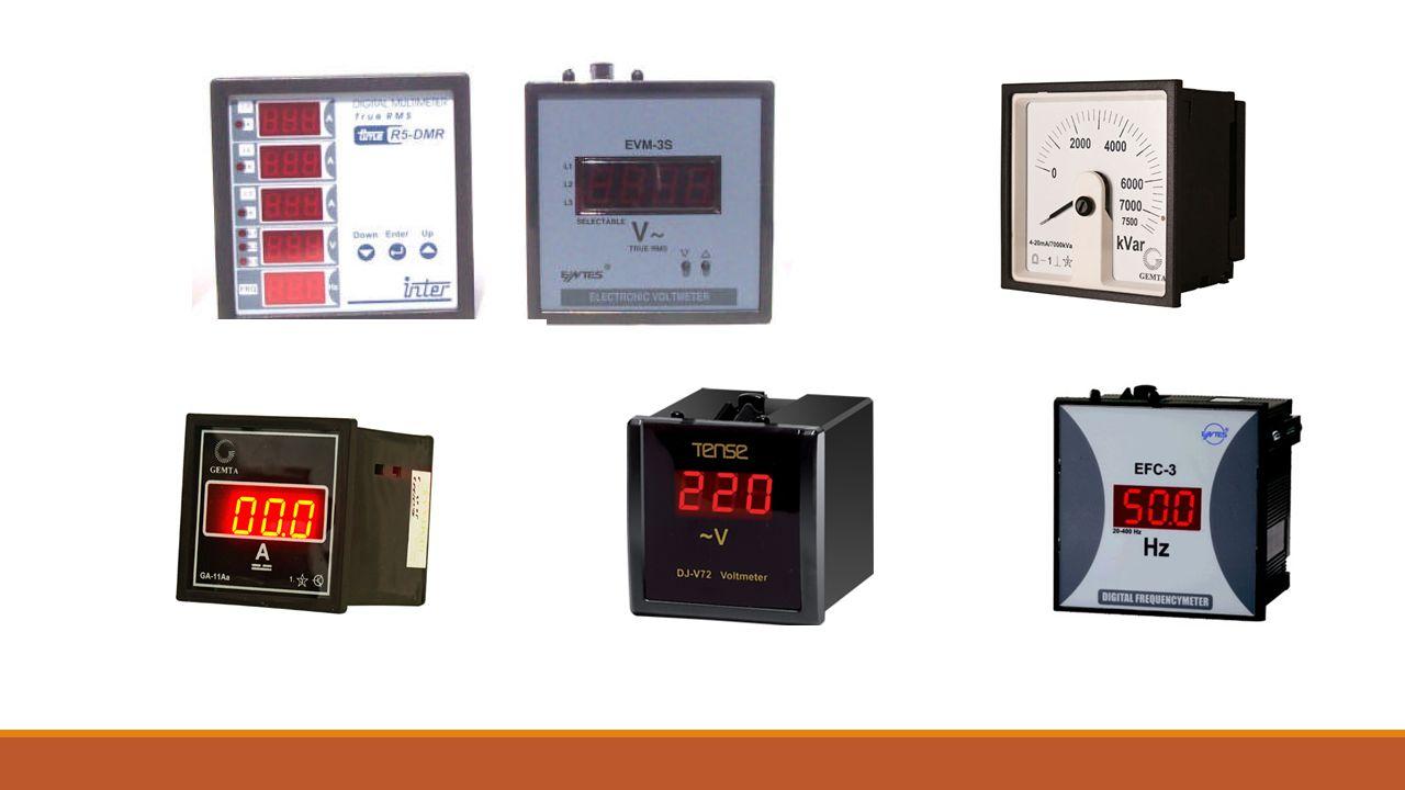 Çeşitli Elektriksel Ölçü Aleti Tanımları  Elektrik elektronik alanında en çok kullanılan ölçü aletleri aşağıda belirtilmiştir.