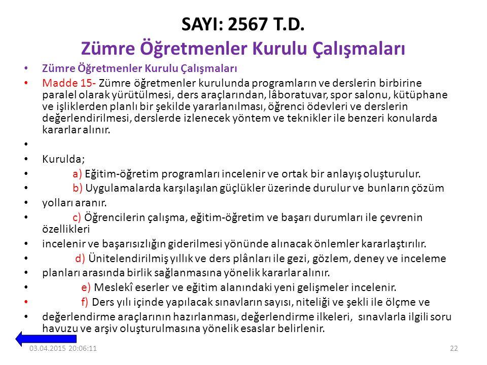SAYI: 2567 T.D.