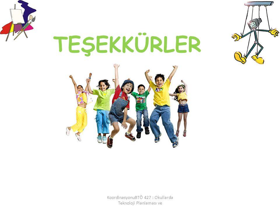 TEŞEKKÜRLER KoordinasyonuBTÖ 427 : Okullarda Teknoloji Planlaması ve