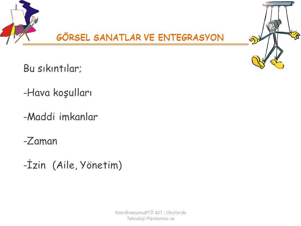 GÖRSEL SANATLAR VE ENTEGRASYON KoordinasyonuBTÖ 427 : Okullarda Teknoloji Planlaması ve