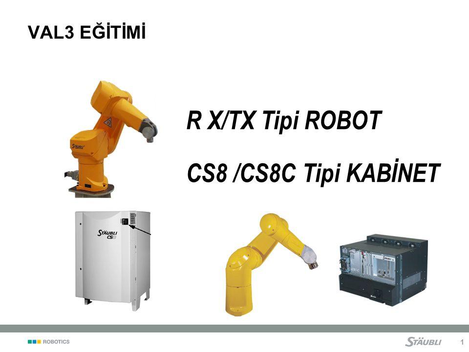 1 R X/TX Tipi ROBOT CS8 /CS8C Tipi KABİNET VAL3 EĞİTİMİ