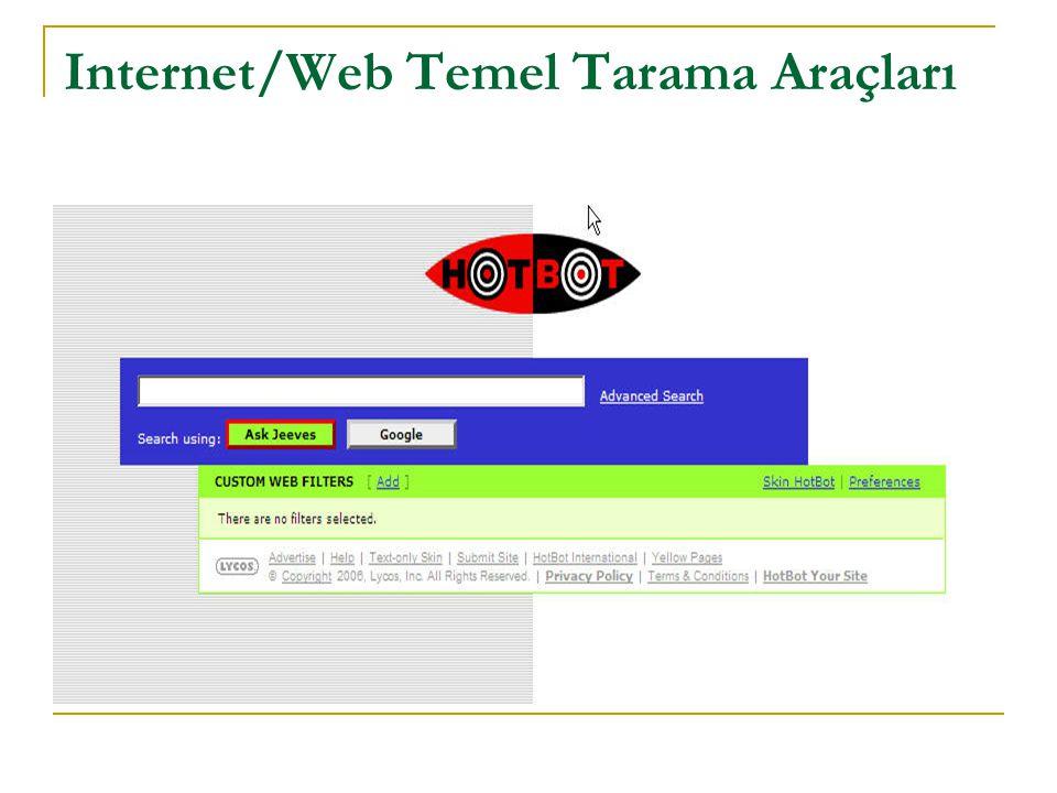 GoTo.com (http://www.goto.com/)http://www.goto.com/ GoTo, kendi web sitelerinin taranmasını isteyen birey ya da kuruluşlara web'te kendi sayfalarına erişilmesini olanaklı kılar; ayrıcalık tanınması isteniyorsa, ödeme karşılığında, listenin başında da ilgili web sitesinin görünmesini sağlar.