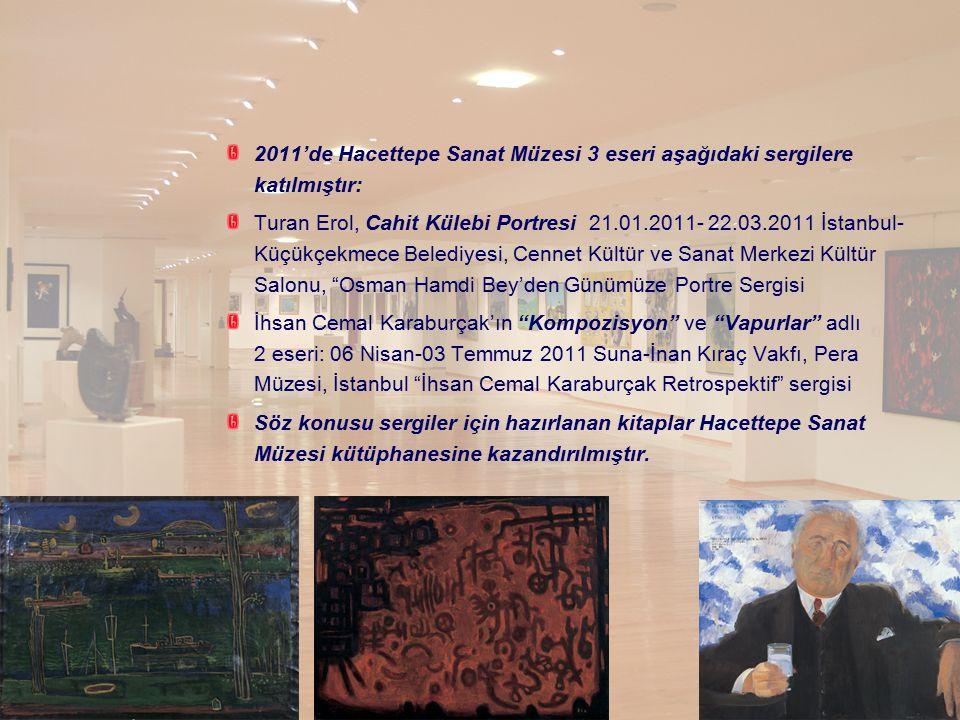 2011'de Hacettepe Sanat Müzesi 3 eseri aşağıdaki sergilere katılmıştır: Turan Erol, Cahit Külebi Portresi 21.01.2011- 22.03.2011 İstanbul- Küçükçekmec