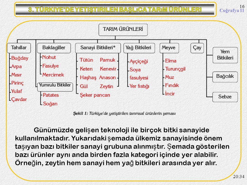 15 Etkinlik Yandaki grafikte Türkiye'nin tarım arazilerinin kullanım oranları verilmi ş tir. Buradan hareketle a ş a ğ ıdaki soruları cevaplandırınız.