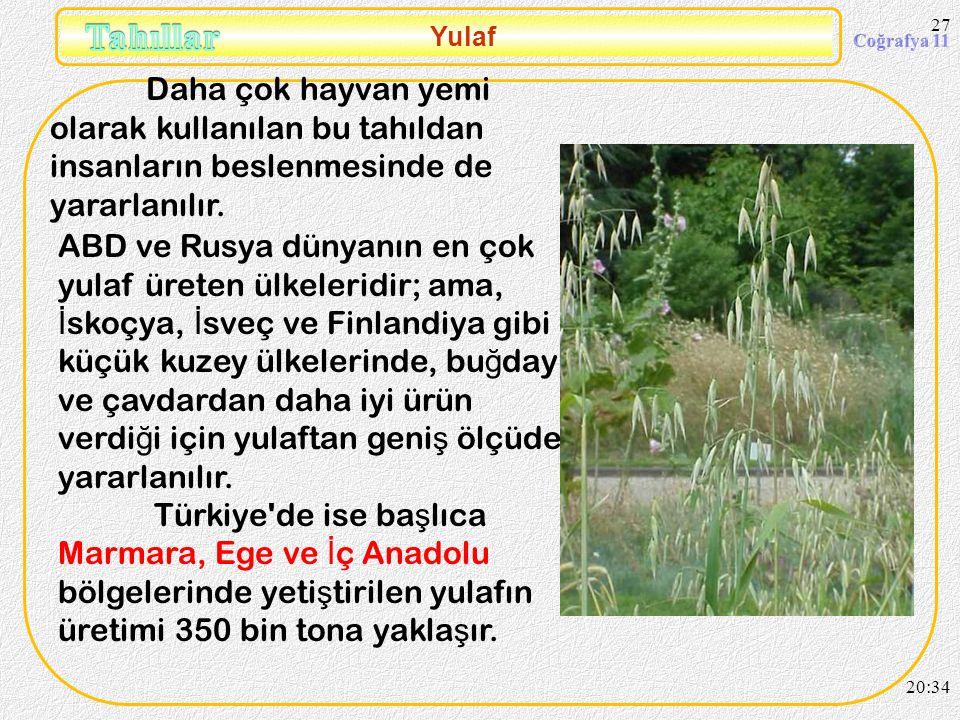 26 Pirinç Üretimde ikinci bölge Karadeniz Bölgesidir. Ba ş ta Samsun olmak üzere Çorum, Sinop, Kastamonu çevresinde tarımı geli ş mi ş tir. Akdeniz bö