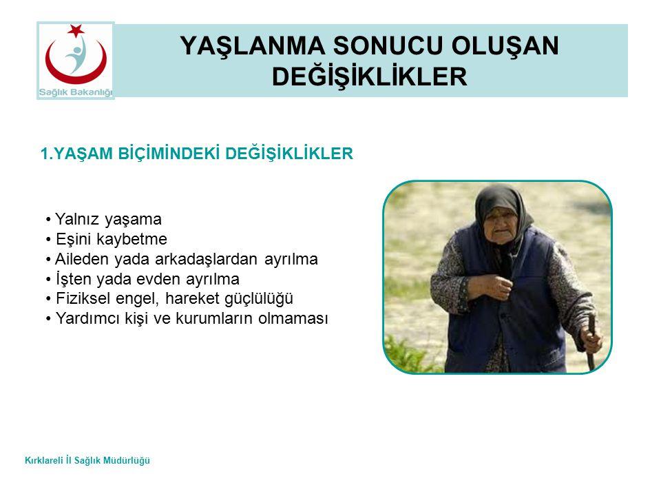 Kırklareli İl Sağlık Müdürlüğü YAŞLILIKTA BESLENME 7.