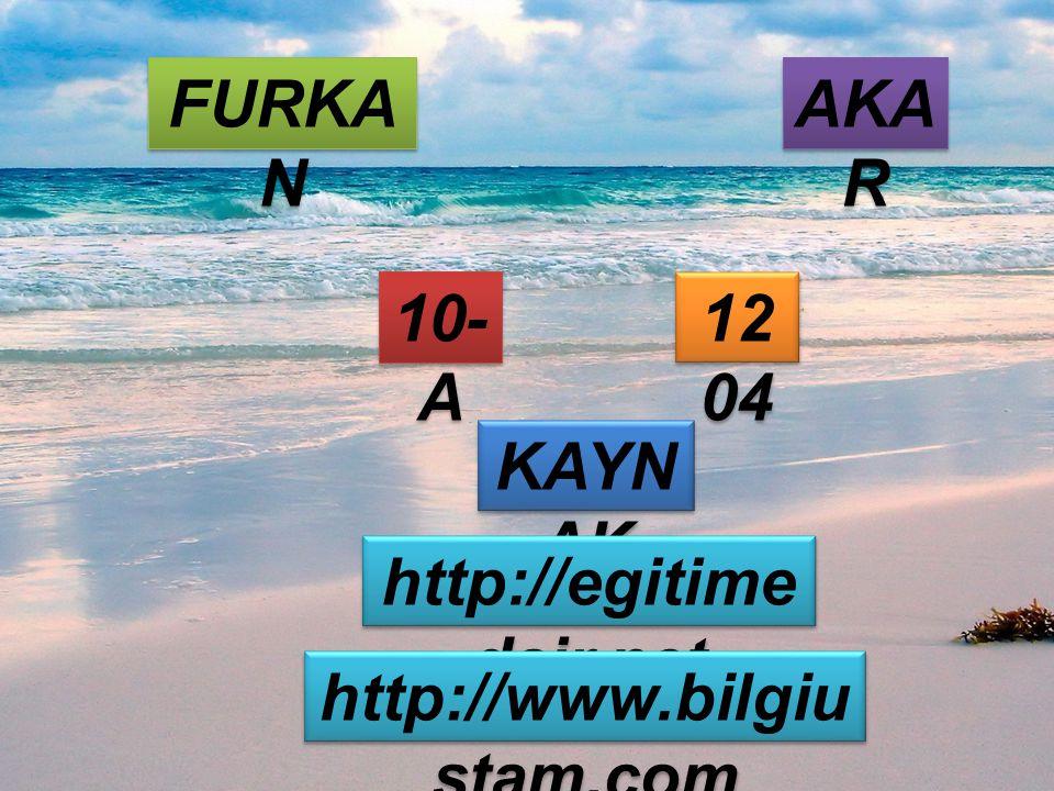 FURKA N AKA R 10- A 12 04 KAYN AK http://egitime dair.net http://www.bilgiu stam.com