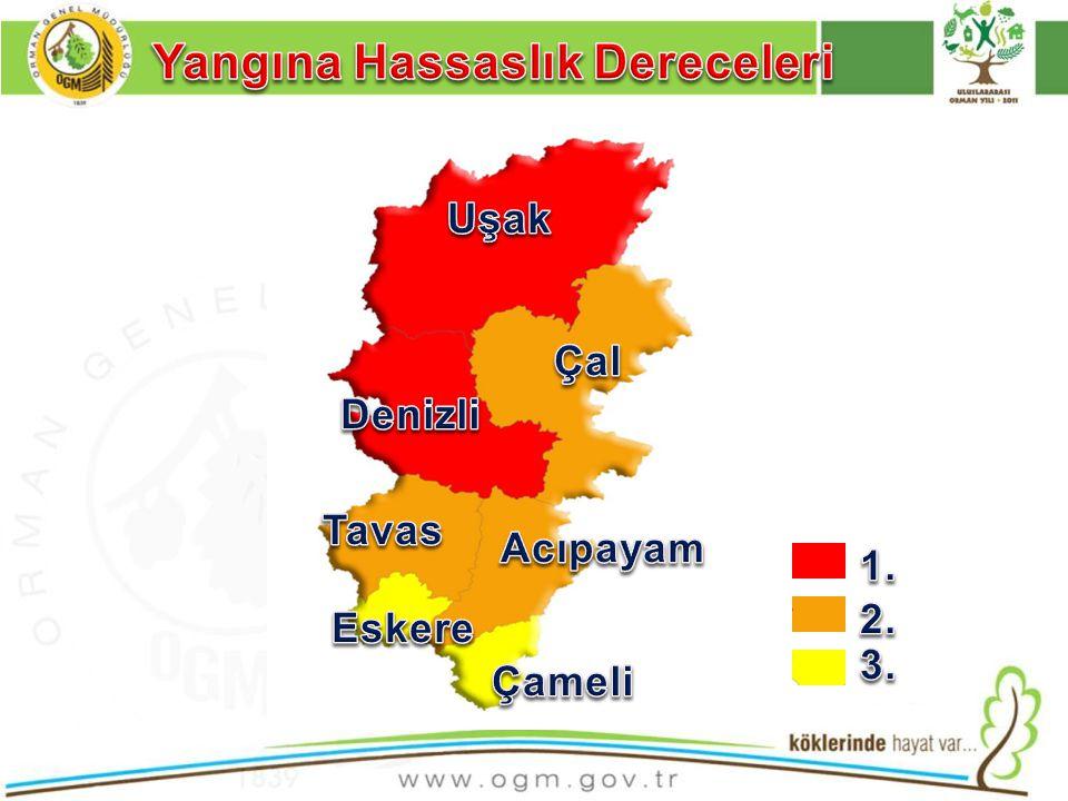 Bölgemiz ormanlarının, uzun yaz kuraklıkları, düşük nispi nem, kurutucu rüzgarlar, olumsuz arazi şartları ve 775.918 Ha.