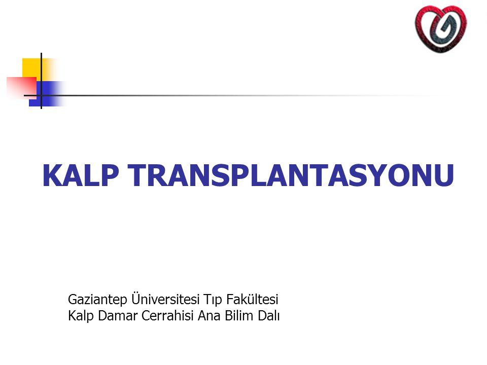 Geç Komplikasyonlar 1.Allogreft vaskülopati (Ateroskleroz) 2.
