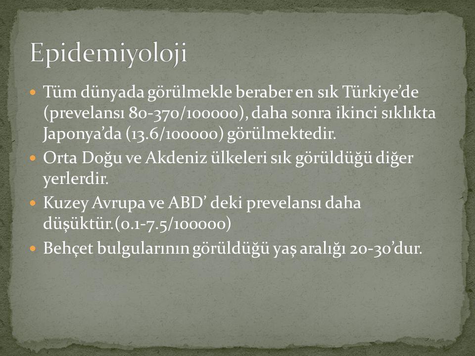 Tüm dünyada görülmekle beraber en sık Türkiye'de (prevelansı 80-370/100000), daha sonra ikinci sıklıkta Japonya'da (13.6/100000) görülmektedir. Orta D