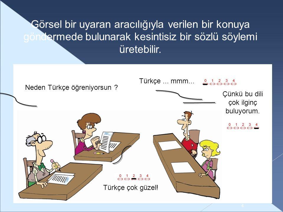 Çünkü bu dili çok ilginç buluyorum. Neden Türkçe öğreniyorsun .