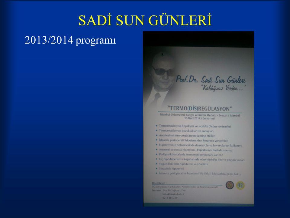 SADİ SUN GÜNLERİ 2013/2014 programı