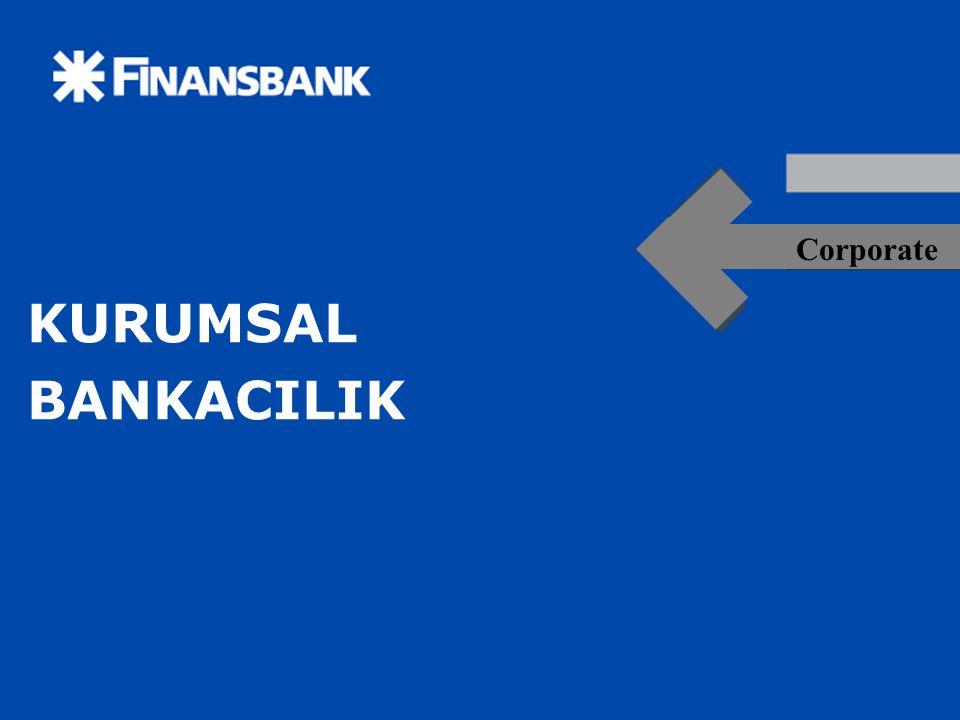 2 2 KURUMSAL BANKACILIK Finansbank 90' lı yılların ikinci yarısından başlamak üzere, giderek ihtiyaçları çeşitlenmekte olan müşterilerine yine aynı çeşitlilik ve bu çeşitliliğin zorunlu kıldığı uzmanlıkta hizmet verebilmek amacıyla ürünlerini ve hizmetlerini segmente ederek bu segmantasyona uygun organizasyonel yapı ve işbölümü ile pazarlama yapısını reorganize etmiştir.