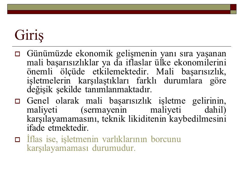  İflas, ülkeden ülkeye değişik şekilde tanımlanmaktadır.