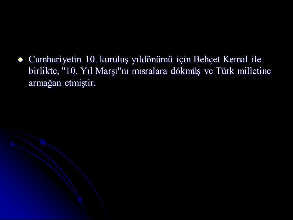 Cumhuriyetin 10.kuruluş yıldönümü için Behçet Kemal ile birlikte, 10.
