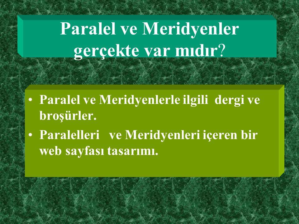 Paralel ve Meridyenler nelerdir Paralel ve meridyenlerle ilgili bilgilendirmeyi okuyup aşağıdaki aktiviteleri. Küre üzerinde çalışma Harita üzerinde ç