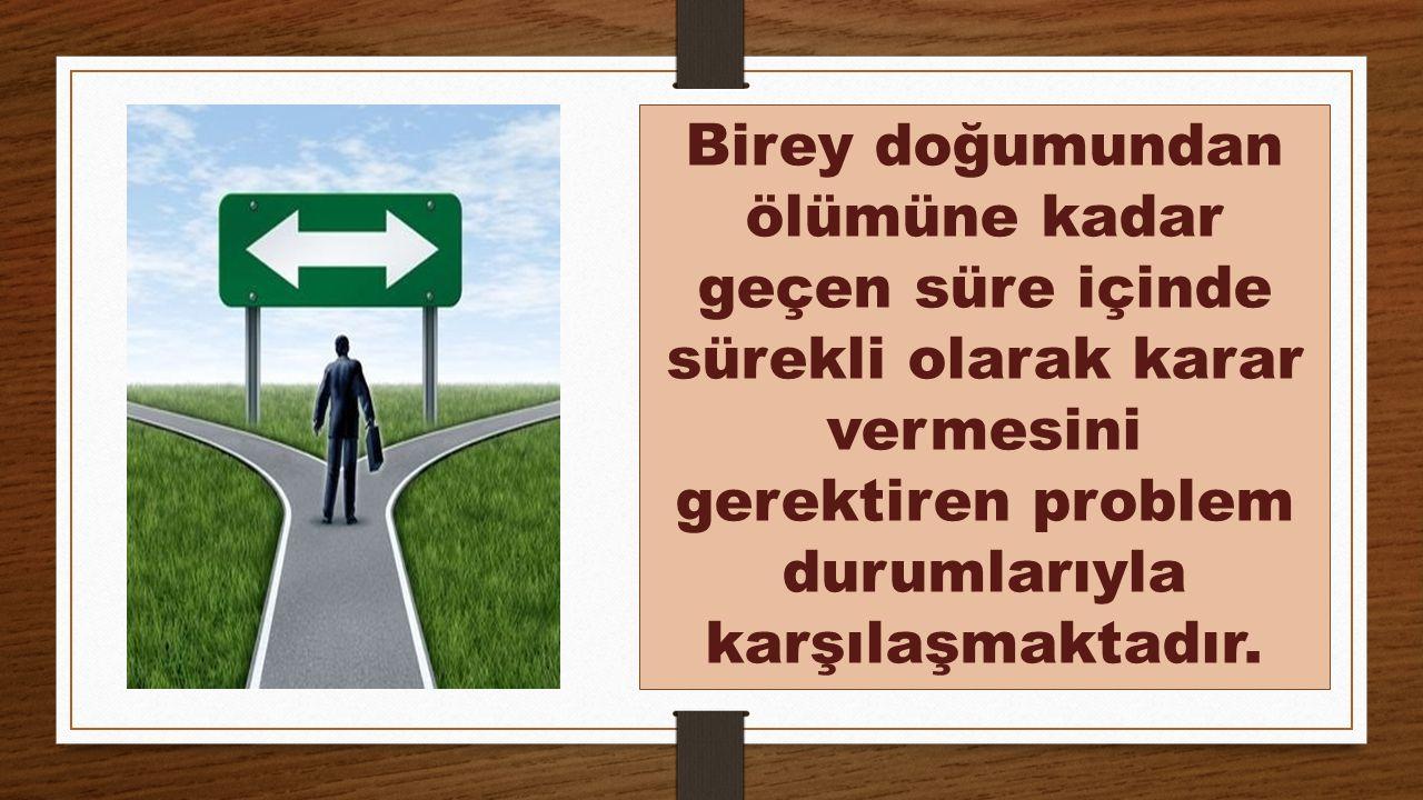 Karar Verme Süreci Aşağıdaki Gibi Özetlenebilir (Erkan, 2005).