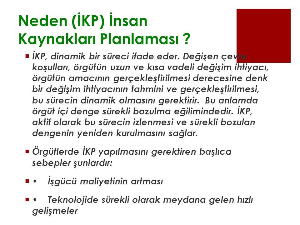 Neden (İKP) İnsan Kaynakları Planlaması . İKP, dinamik bir süreci ifade eder.