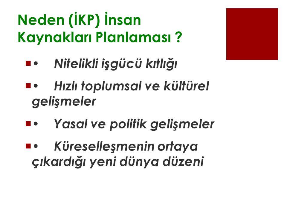 Neden (İKP) İnsan Kaynakları Planlaması .