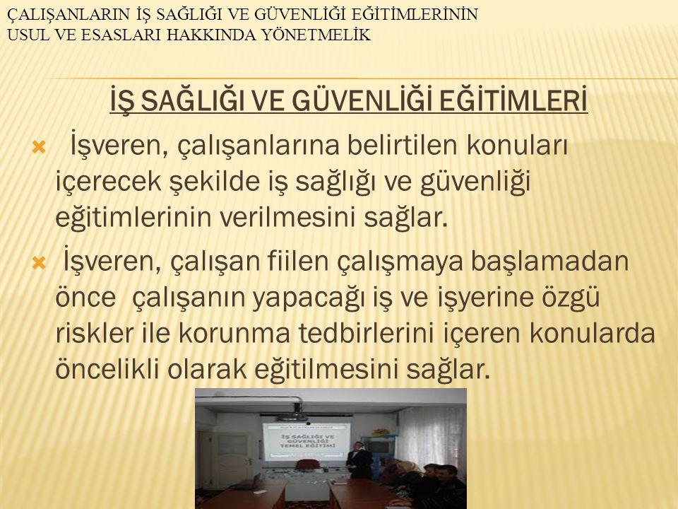  EĞİTİM KONULARI  1.