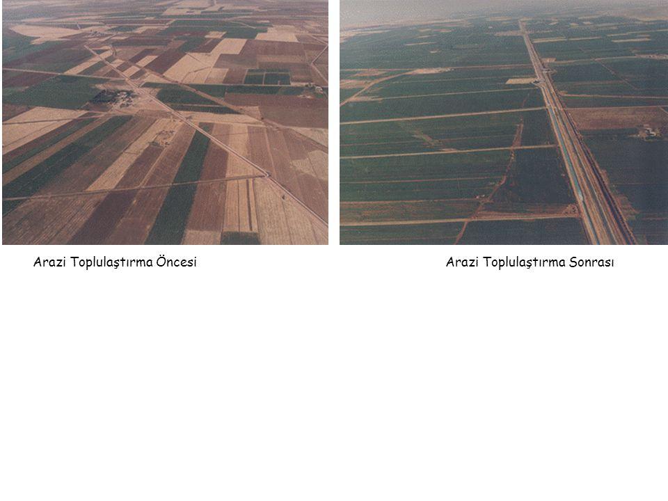 Arazi Toplulaştırma Öncesi Arazi Toplulaştırma Sonrası