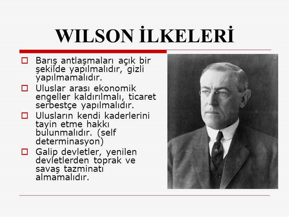 PARİS BARIŞ KONFERANSI (18 OCAK 1919) AA vrupa'nın durumu ve sınırlarının çizilmesi, SS ömürgelerin ve Osmanlı'nın paylaşılması gibi konular karara bağlanmak istenmiştir.