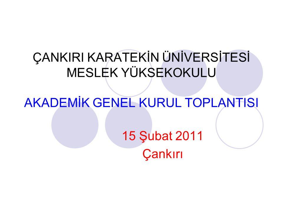 GÜNDEM 1.2010-2011 Güz Döneminin Genel Değerlendirmesi 2.