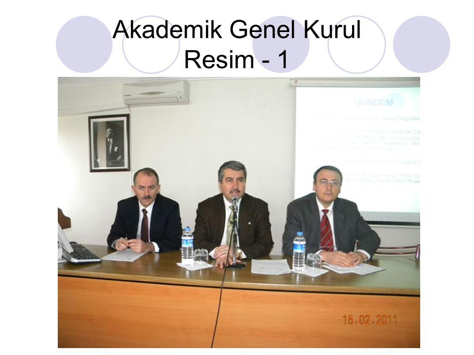 Akademik Genel Kurul Resim - 1