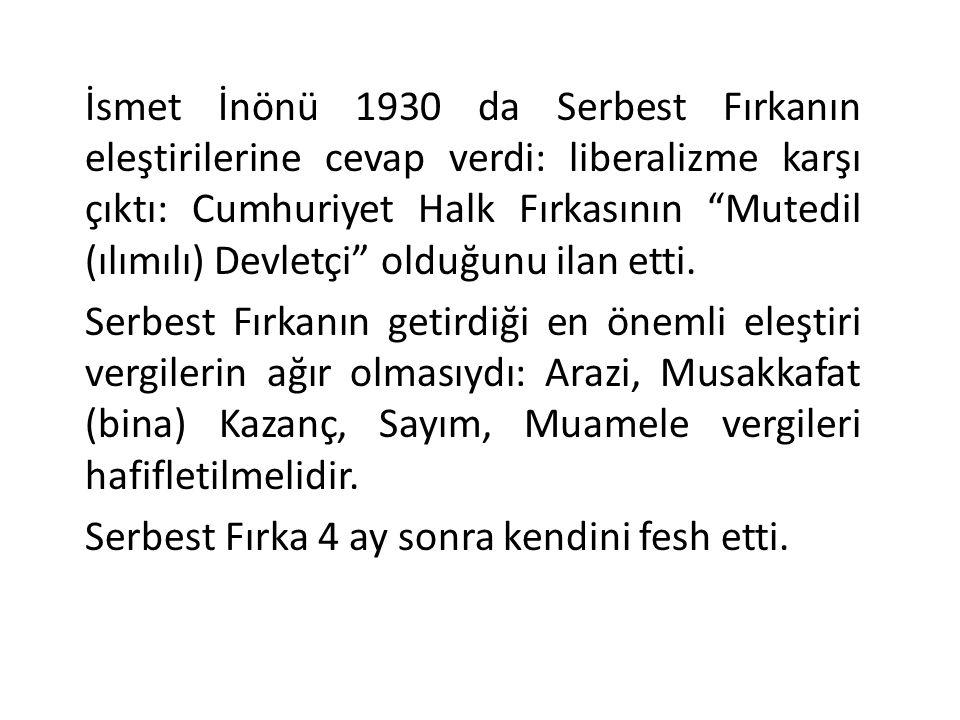 Devletçiliğe Geçiş Atatürk, Serbest Fırkanın kapanmasından sonra, sorunları yerinde tespit için geziye çıkıyor.