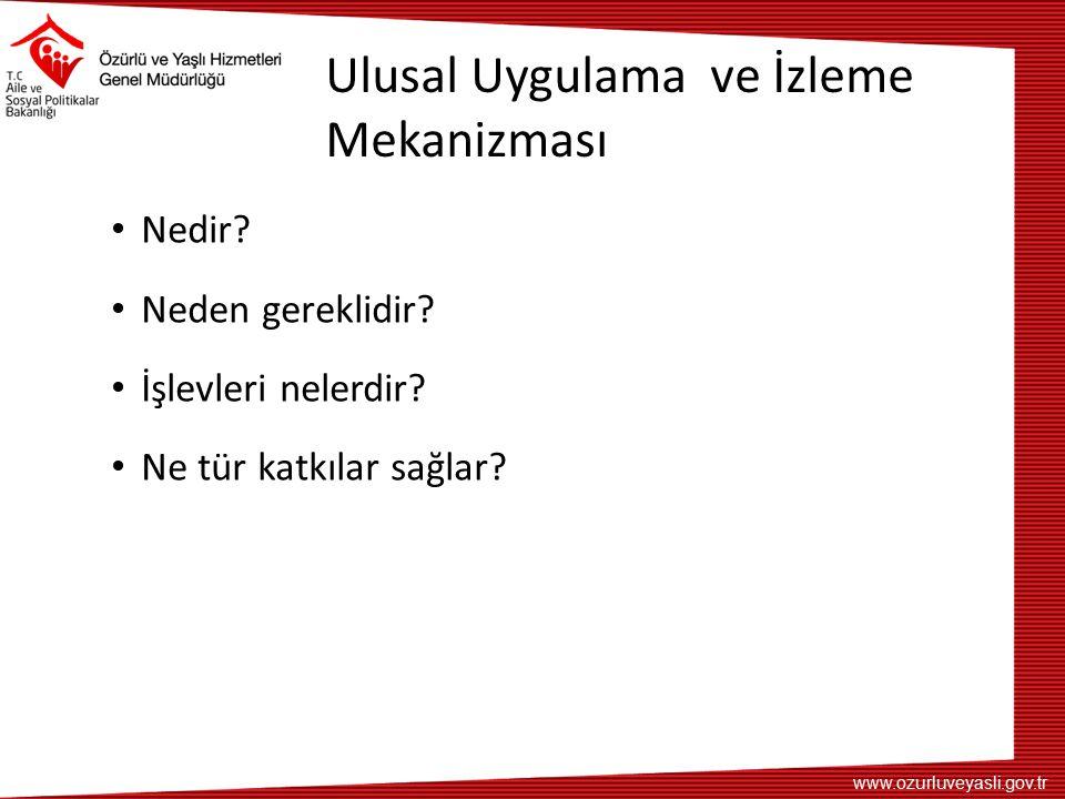 www.ozurluveyasli.gov.tr Ulusal Uygulama ve İzleme Mekanizması Nedir.