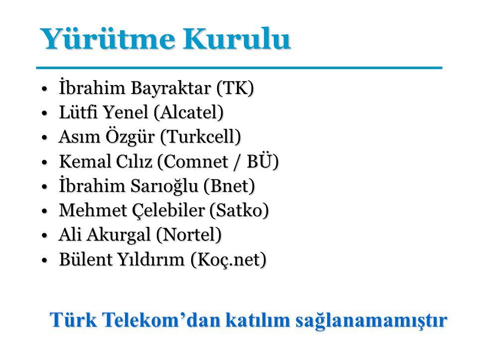 Yürütme Kurulu İbrahim Bayraktar (TK)İbrahim Bayraktar (TK) Lütfi Yenel (Alcatel)Lütfi Yenel (Alcatel) Asım Özgür (Turkcell)Asım Özgür (Turkcell) Kema