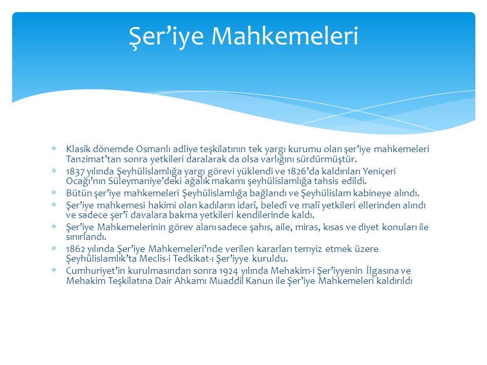  Osmanlı Devleti'nin gayrimüslim vatandaşları evlenme, boşanma ve mirasla ilgili davalarını cemaat mahkemelerine götürebilirlerdi.