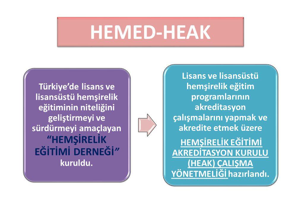"""HEMED-HEAK Türkiye'de lisans ve lisansüstü hemşirelik eğitiminin niteliğini geliştirmeyi ve sürdürmeyi amaçlayan """"HEMŞİRELİK EĞİTİMİ DERNEĞİ"""" kuruldu."""