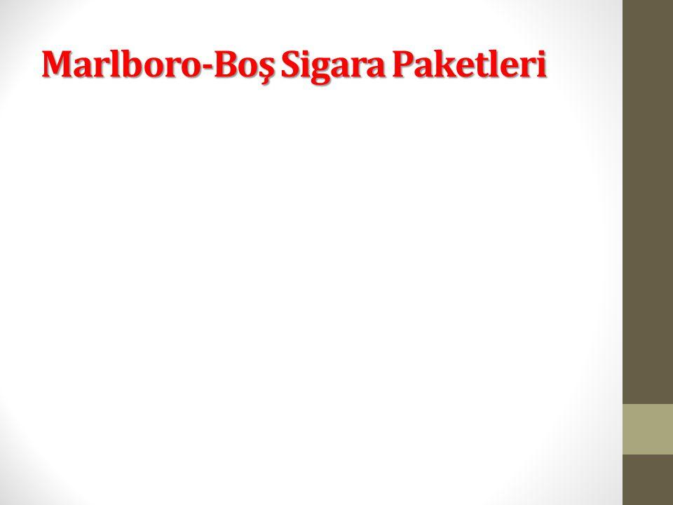 Marlboro-Boş Sigara Paketleri