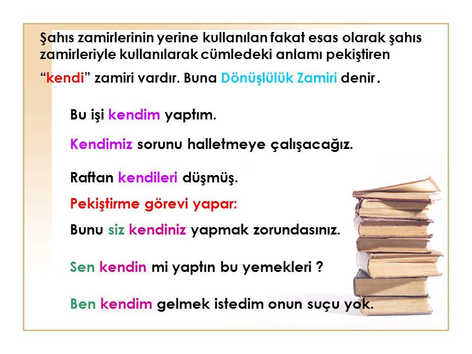 (1999-KUR)Aşağıdaki cümlelerin hangisinde soru zamirle sağlanmıştır.