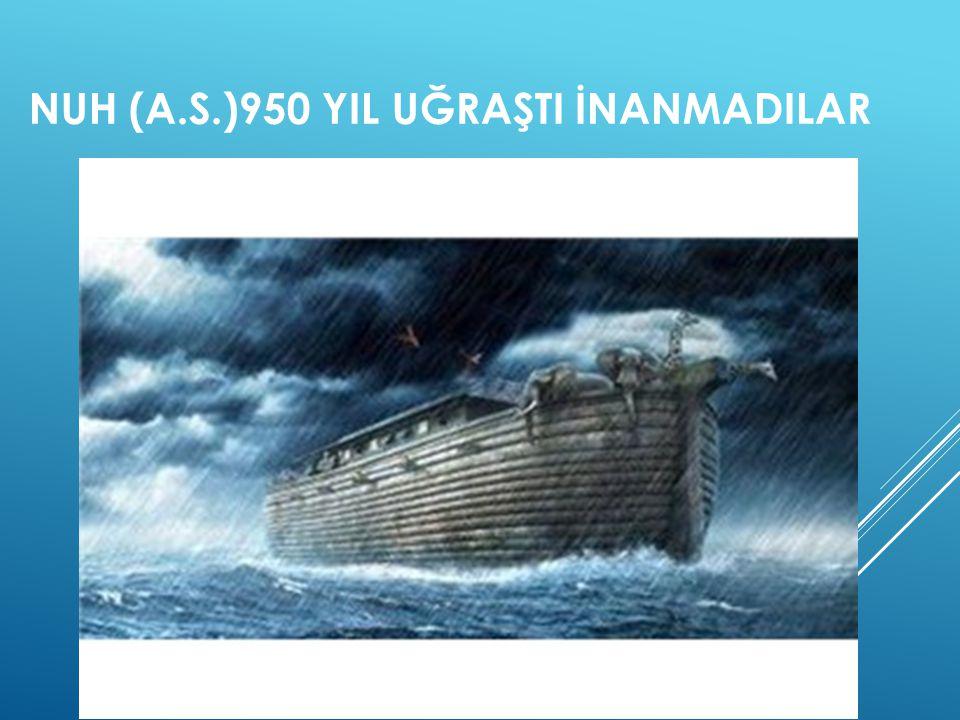 NUH (A.S.)950 YIL UĞRAŞTI İNANMADILAR