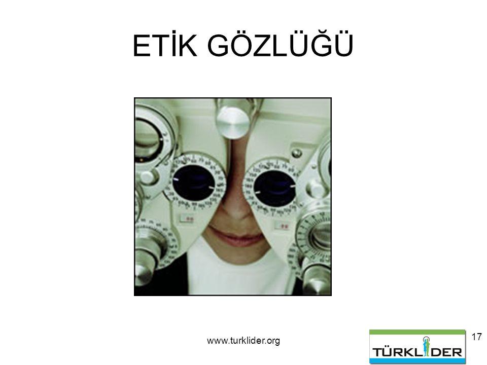 www.turklider.org 17 ETİK GÖZLÜĞÜ