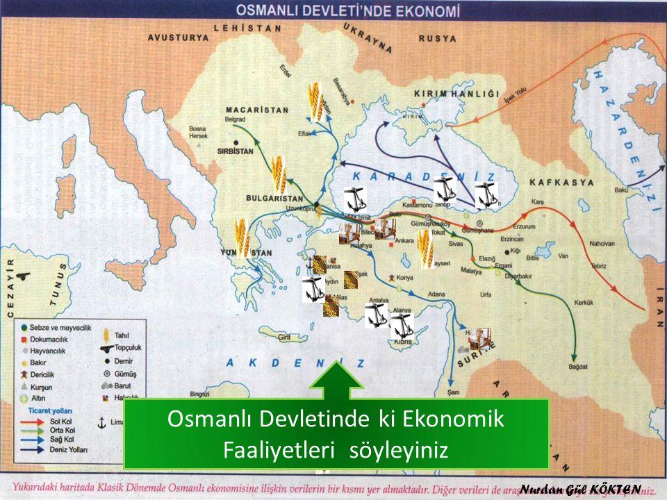 Osmanlı Devletinde ki Ekonomik Faaliyetleri söyleyiniz Nurdan Gül KÖKTEN