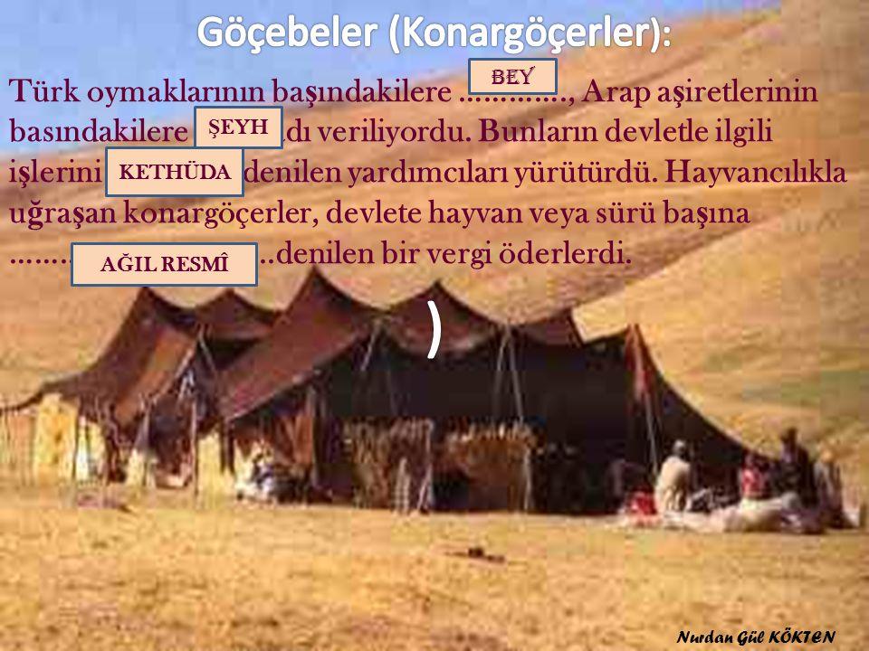 Türk oymaklarının ba ş ındakilere …………., Arap a ş iretlerinin basındakilere ………adı veriliyordu.