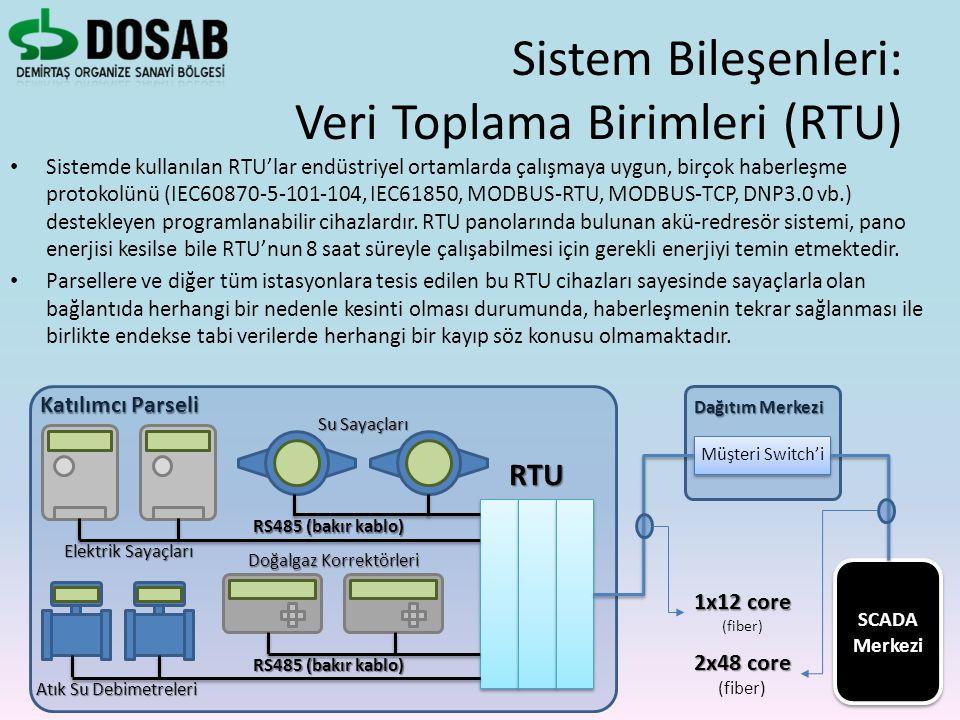 Sistemde kullanılan RTU'lar endüstriyel ortamlarda çalışmaya uygun, birçok haberleşme protokolünü (IEC60870-5-101-104, IEC61850, MODBUS-RTU, MODBUS-TC