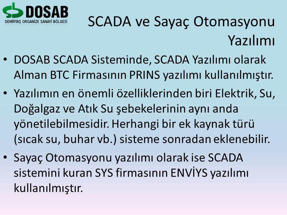 DOSAB SCADA Sisteminde, SCADA Yazılımı olarak Alman BTC Firmasının PRINS yazılımı kullanılmıştır. Yazılımın en önemli özelliklerinden biri Elektrik, S