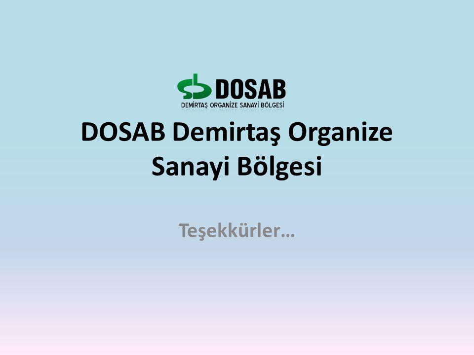 DOSAB Demirtaş Organize Sanayi Bölgesi Teşekkürler…