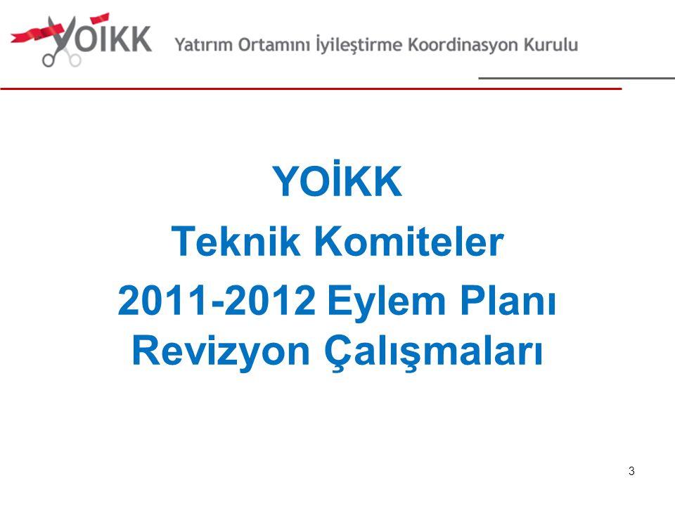 YOİKK Teknik Komiteler 2011-2012 Eylem Planı Revizyon Çalışmaları 3