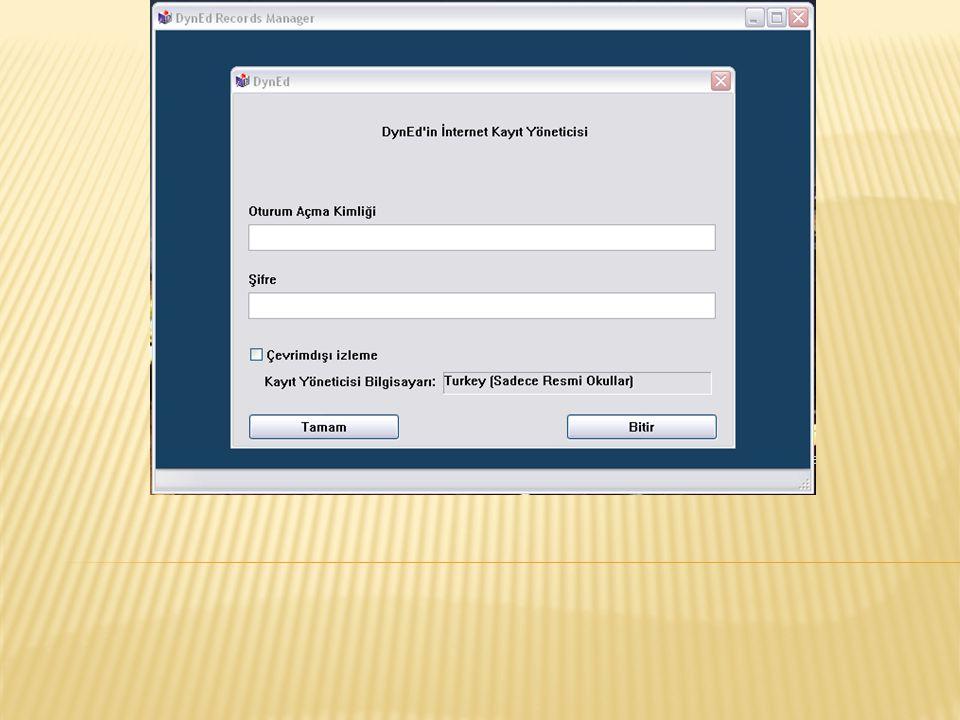 Gözlemci Şifresi Okul Müdürü'ne,İlgili Müdür Yardımcısı'na, Okul Dyned Bilgisayar Sorumlusu'na Oturum Açma Kimliği ile birlikte teslim edilir.Bu şifre ile bütün sınıflar görülebilir ve açılabilir.
