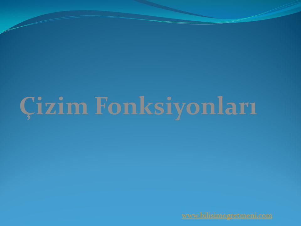 www.bilisimogretmeni.com Çizim Fonksiyonları